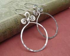 Big Sterling Silver Hoop Earrings  With by nicholasandfelice, $22.00