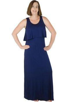 Latched Mama Ruffle Front Nursing Maxi Dress