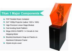 Titan 1: Fastest, Tallest Print, High Res SLA 3D Printer by Kudo3D — Kickstarter