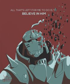 "Alphonse by impandora ""Think he'll come here to bring you back? Full Metal Alchemist, Alphonse Elric, Roy Mustang, Manga Quotes, Edward Elric, Fullmetal Alchemist Brotherhood, Human Soul, Blue Exorcist, Noragami"