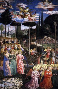 Benozzo Gozzoli c. 1459-1460 Angels Worshiping
