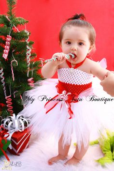 Candy Cane Tutu Dress -- Making this for Selyse!!! She is a Christmas baby and this would be PERFECT! for her 1 year pics :)