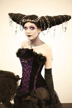 corset, purple, black, costume, fashion,