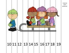 Adorable little puzzle perfect for centers, choice time, or early finishers! All you need to do is print, laminate, and cut!The puzzle comes in v. Christmas Worksheets Kindergarten, Kindergarten Projects, Worksheets For Kids, Kindergarten Math, Preschool, Counting Puzzles, Maths Puzzles, Skip Counting, Teen Numbers