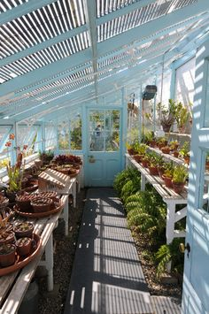 greenhouse interior Out of Doors Pinterest Greenhouse