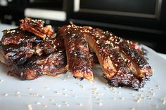 Asian Spare Ribs--made with a homemade Asian Barbecue Sauce (recipe included)