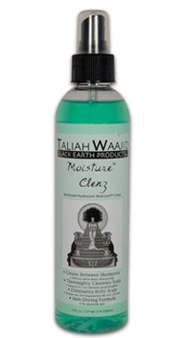 Moisture Clenz by Taliah Waajid Black Earth Products. Use in between shampoos for quick and thorough cleansing for braids,twists,locks and weaves.