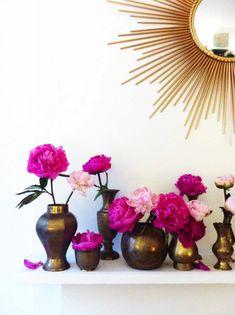 decoração do berçário Casa Creme Marfim Rosa Gravuras Shabby Chic Floral Arte De Parede Boho