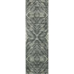 "Alexander Home Francis Fog Runner Rug (2'4 x 7'9) (Fog Runner (2'4 x 7'9)), Green, Size 2'4"" x 7'9"" (Viscose, Abstract)"