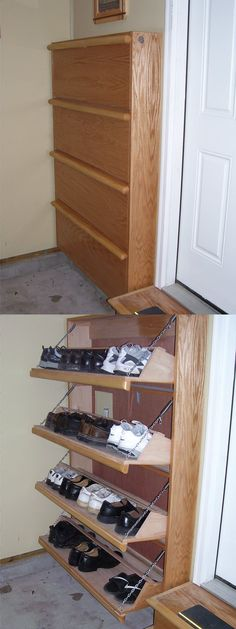 Custom Shoe Cabinet by Roy Rogers