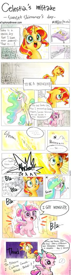 Celestia's Mistake by vldzl0.deviantart.com on @deviantART . But she was born with wings?!