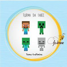 Conheça os personagens que vão estampar todos os seus produtos! Fabee Store! =) #Minecraft