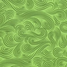Tula Pink Flannel Fabric Clouds in Leaf Green for by neemerone, $7.99