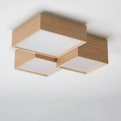 Kube from OLE! by FM ceiling lamp LED manufactured in oak wood. Living Room Lighting, Home Lighting, Lighting Design, Ceiling Light Design, Ceiling Lamp, Ceiling Lights, Kids Lamps, Roof Light, Wooden Lamp
