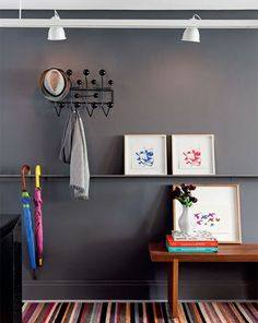 grey wall + eames hang it all #decor #eames #wall