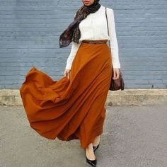 maroon maxi skirt hijab outfit- Hijab fashion guide 2016 http://www.justtrendygirls.com/hijab-fashion-guide-2016/