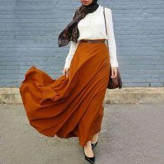 maroon maxi skirt hijab outfit- Hijab fashion guide 2016 http://www.justtrendygirls.com/hijab-fashion-guide-2016/