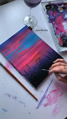 Easy Canvas Art, Cute Canvas Paintings, Canvas Painting Tutorials, Small Canvas Art, Mini Canvas Art, Simple Paintings, Diy Painting, Creative Painting Ideas, Acrylic Painting Inspiration