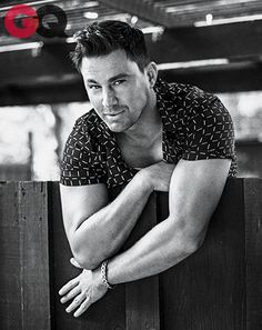 Channing Tatum wearing one of summer's best short-sleeve button-downs by Emporio #Armani.