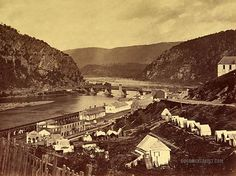 Meeting of the Shenandoah and Potomac. Harpers Ferry, West Virginia. July 1865