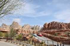 4,000 Tons of steel was used to construct the Ornament Valley range and Radiator Springs Racers attraction in Cars Land