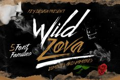 WILD ZOVA - 5 FONTS