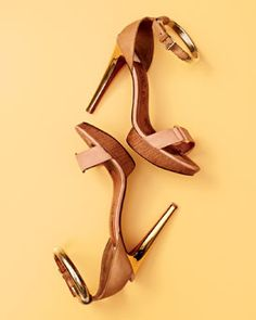 Lanvin Belted Ankle-Wrap Sandal