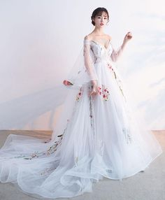Customized Nice Long Prom Dresses, Prom Dresses White On Sale Vogue Prom Dresses White, White Tulle Applique Long Prom Dress, White Evening Dress White Evening Gowns, Evening Dresses, White Gowns, Evening Hair, Trendy Dresses, Formal Dresses, Long Dresses, Wite Prom Dresses, Dresses Dresses