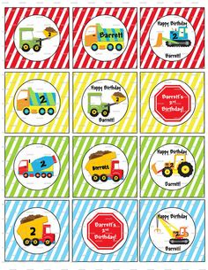 Construction Dump Truck Big Truck Birthday by provagraphicdesigns, $2.99