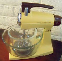 Oh my gosh...we totally had this mixer! Except ours was Avacado green! I can't TELL you how many cakes and cookies I mixed up in this thing!!
