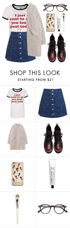 """""""Hazel"""" by soym ❤ liked on Polyvore featuring Sans Souci, L:A Bruket, La Mer and Moscot"""