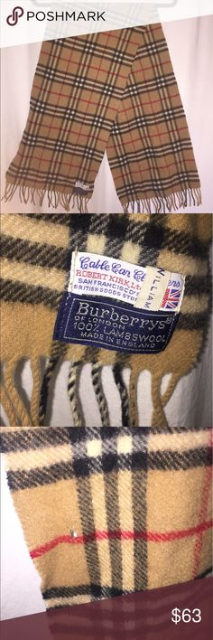 Vintage lambs wool Burberry scarf Authentic Burberry scarf 100% lambs wool great condition but there is a small hardly noticeable hole (pictured) Burberry Accessories Scarves & Wraps