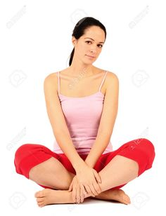 6317787-relaxed-young-woman-sat-cross-legged-on-floor-Stock-Photo.jpg (995×1300)