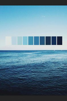The colors of the ocean