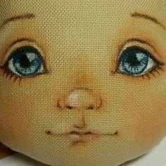 Фотография Doll Face Paint, Doll Painting, Doll Crafts, Diy Doll, Fabric Toys, Doll Eyes, Sewing Dolls, Doll Tutorial, Doll Repaint