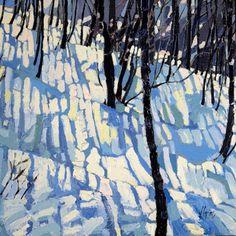 Jennifer Irvine, Winter Shadows, x oil Art And Illustration, Illustration Inspiration, Winter Landscape, Landscape Art, Landscape Paintings, Painting Snow, Winter Painting, Winter Trees, Winter Art
