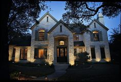 Beautiful house including landscape lighting