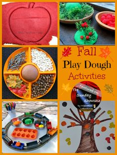 Fall Play Dough Activities Featured on the Sunday Showcase at Inspiration Laboratories