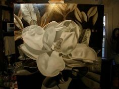 How to oil paint, flemish technique, the magnolia blossom.