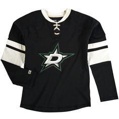 Dallas Stars CCM Youth Vintage Long Sleeve Jersey Crew T-Shirt - Black - $25.59