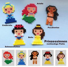 Disney Princess Hama perler beads