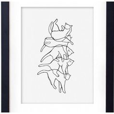 The Art of Falling A4 Falling Cat Illustration Print ($11) ❤ liked on Polyvore featuring home, home decor, wall art, leaves wall art, unframed wall art, cat home decor, fall home decor and autumn home decor
