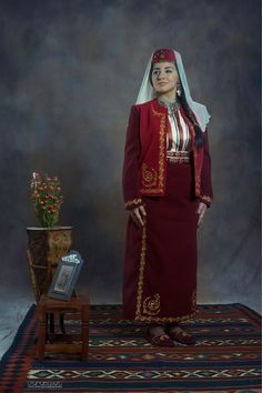Traditional Armenian festive costume from Central Anatolia. Style: early 20th century.