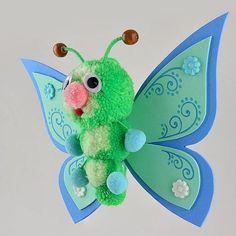 Pom-Pom butterfly