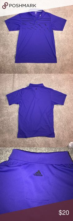 Adidas Golf dri fit Polo Adidas Golf dri fit Polo / deep purple and back men's sz Large. Great condition adidas Shirts Polos