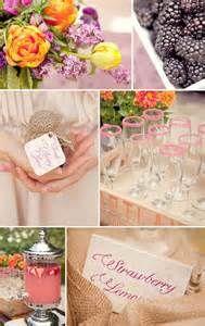 purple and orange bridal shower brunch ideas 2014