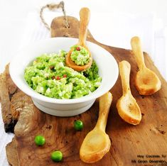 Hoy Cocinas Tú: Cucharas Comestibles Con Pesto De Guisantes | Gastronomía & Cía