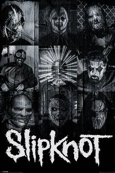 Slipknot - Masks - Official Poster. Official Merchandise. Size: 61cm x 91.5cm. FREE SHIPPING