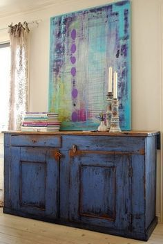 how do you do a blue washed look on cabinets - Google Search