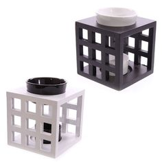 Wooden+Lattice+and+Ceramic+Black+and+White+Oil+Burner